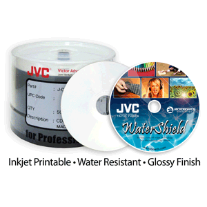 ​WATERSHIELD Ink-Jet Pprintable CD/DVD/BD discs