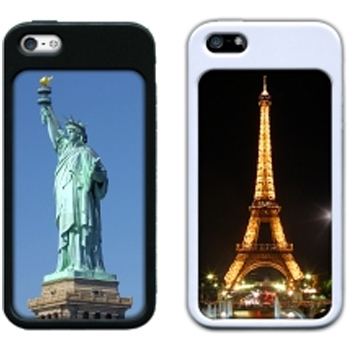 Ж1 CASE iPHONE5 BLACK 2-PC (STACK for IPHONE 5/5S)