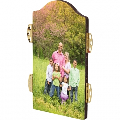 Ж5 CL - Arch photo panel with hinges - Center, HDF, White, Gloss  , 127 x 177,8 x 6,35 mm