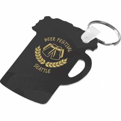 Aluminum Gloss White Keychain - Stein 2 Sided 2.74