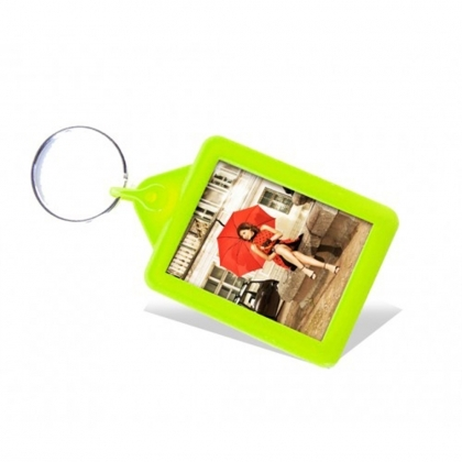 Soft Touch Passport Keyring Lime