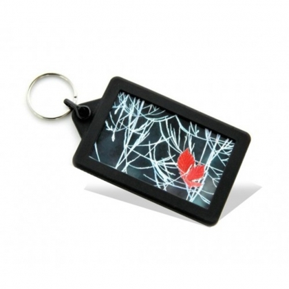 Soft Touch Classic Keyring Black (insert size 70.5 x 45 mm) (box-250)