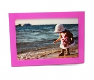 "Solo Mount Magnet 4 x 6""- Pink - inc. clear high-gloss cover"