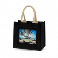 ADV Adventa Jute Bags - Medium (Black) (box-12)