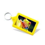 Soft Touch Classic Keyring Yellow (insert size 70.5 x 45 mm) (box-250)