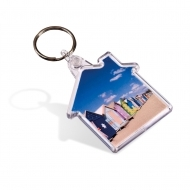 ADV House Key Fob - with Clear Connector and Ring (insert size 48 x 50 mm) (box-500)