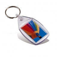 ADV Original Key Fob - Assembled with Clear Connector and Ring (insert size 24 x 35 mm) (box-500)