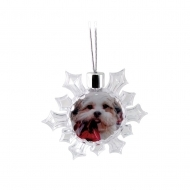 ADV Bauble Snowflake Decoration Clear (box-36)