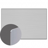 Aluminium Silver Gloss 1 side, 1200 x 600 x 0,76 mm