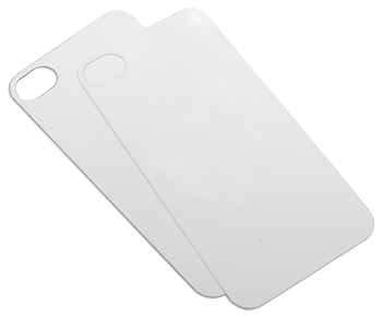 Ж1 iPHONE5 2PC INSERT WHITE (ALUMINUM BACKPLATE - STACK & GRIP for IPHONE 5/5S)