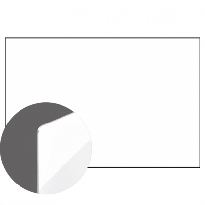 Aluminium Sheetstock - White, Matte, One-sided, 1200 x 600 x 1.14 mm