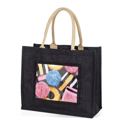 ADV Adventa Jute Bags - Large (Black) (box-12)