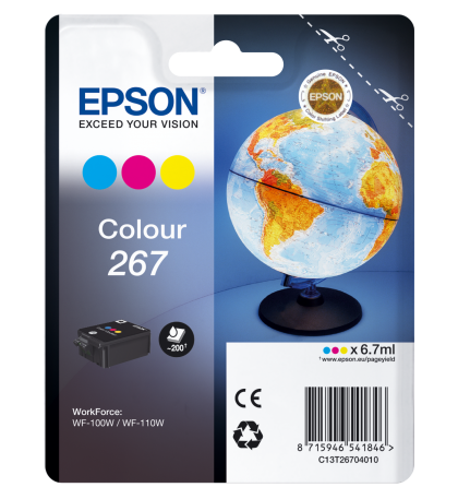 Singlepack Colour 267 ink cartridge