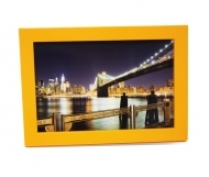 "Solo Mount Magnet 4 x 6""- orange- inc. clear high-gloss cover"