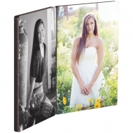 Rectangle photo panel with hinges - Left and right panels, HB, White, Gloss, 88.9 x 127 x 6.35 mm