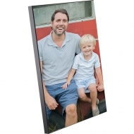 Black edge photo panel, MDF, White, Gloss, 100 x 150 х 15.88 mm