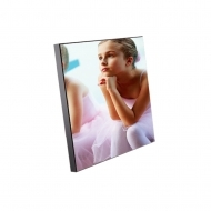 В6 CL - Black edge photo panel, MDF, White, Gloss,  150 x 150 х 15.88 mm