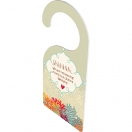 Doorhanger - Doublesided, FRP, White, Gloss, 101.6 x 228.6 x 2.29 mm