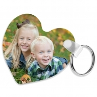Keyring - Heart, Doublesided, FRP, White, Gloss, 63.5 x 63.5 x 2.29 mm