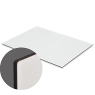 HB (HARDBOARD) UNISUB - White, Gloss, Two-sided, 1200 x 600 x 3.17 mm