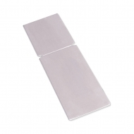"Aluminum Clear Mini Easel For Photo Panel 3.5"" x 1.5"" / 89 x 38 mm, 20 pcs/ box"