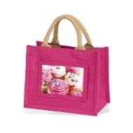ADV Adventa Jute Bags - Small (Fuchsia) (box-12)
