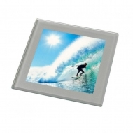 ADV Glass Coaster-Silver (box-50)
