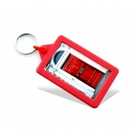 Soft Touch Classic Keyring Red (insert size 70.5 x 45 mm) (box-250)