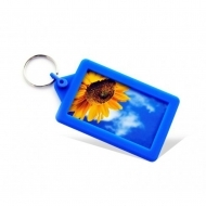 Soft Touch Classic Keyring Blue (insert size 70.5 x 45 mm) (box-250)