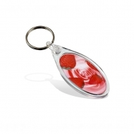 ADV Elipse Key Fob - with Clear Connector and Ring (insert size 25 x 50 mm) (box-500)