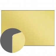 Aluminium GOLD Gloss 1 side, 1200 x 600 x 0,76 mm