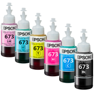 EPSON Full Set of ink for L-series (6 х 70 ml, T673)