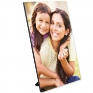 "Hardboard Gloss White Flat Top Photo Panel With Kickstand 5"" x 7"" / 127 x 178 mm 20/box"
